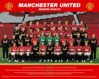 Manchester United Team Photo 12/13 - plakat