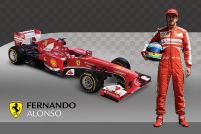 Ferrari (Alonso and Car) - plakat