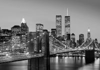 New York (Brooklyn Bridge) - fototapeta na ścianę