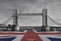Londyn - Tower Bridge by Tanya Chalkin - plakat