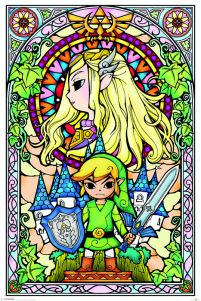 plakat z gry The Legend Of Zelda (Stained Glass)