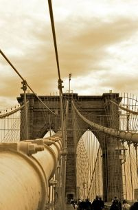 New York, Brooklyn Bridge - fototapeta