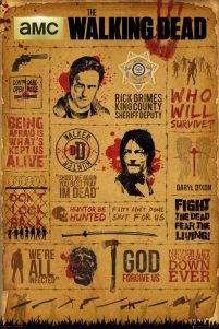 The Walking Dead - Żywe Trupy - Typografia - plakat