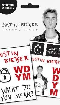 Justin Bieber What Do You Mean - tatuaże