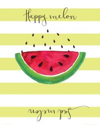 Happy melon sad melon - plakat 40x50 cm