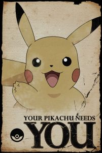 Pokemon Your Pikachu Needs You - plakat