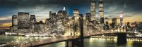 Manhattan, New York (night and noon) - plakat