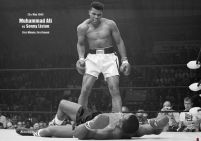 plakat firts minute, first round Muhammad Ali vs Sonny Liston 25 may 1965