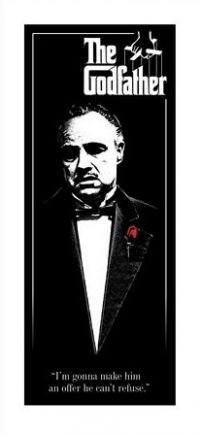 The Godfather Red Rose - reprodukcja z filmu z Marlonem Brando