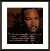Martin Luther King Jr I.Quote - obraz w ramie