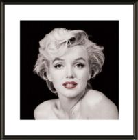 Marilyn Monroe Red Lips - obraz w ramie