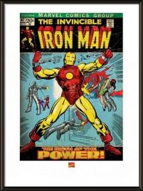 Iron Man Birth Of Power - obraz w ramie