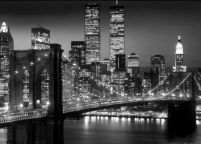 New York (Brooklyn bridge night) - plakat