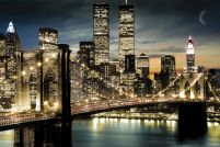New York (Manhattan lights) - plakat