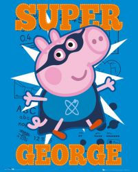 Peppa Pig Super George - plakat