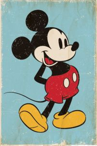 Mickey Mouse (Retro) - plakat