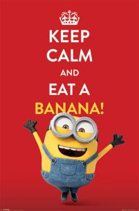Minionki Keep Calm and eat a banana - plakat
