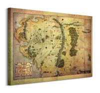 Middle Earth Map - Obraz