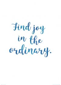 Find joy in the ordinary - plakat