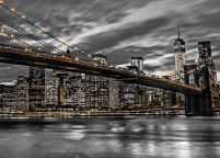 Brooklyn Bridge w mieście New York w Usa