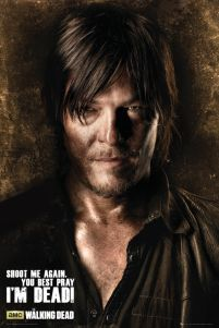 plakaty z serialu The Walking Dead Daryl Shadows