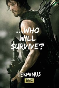 plakaty z serialu The Walking Dead Daryl Survive