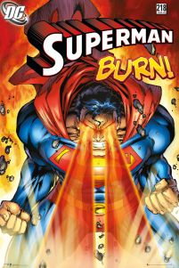 plakaty z komiksu Superman Burn