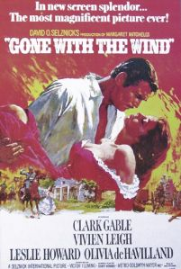 plakat filmowy gone with the wind z clark gable i vivien leigh