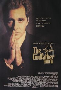 plakat all the power on earth can't change destiny z filmu the godfather part III z al-em pacino