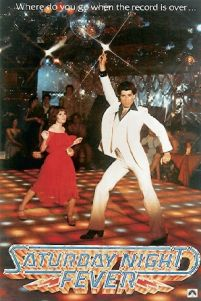 plakat kinowy Where do you go when the record is over... z filmu Saturday night fever