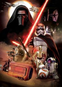 Star Wars The Force Awakens Obsada - plakat 140x100 cm