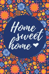 Home sweet home - plakat