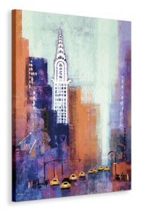 Manhattan Chrysler Building - Obraz na płótnie 60x80 cm