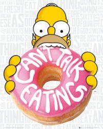 The Simpsons Eating - plakat