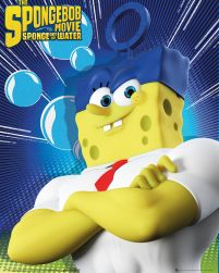 plakat sponge out of water z filmu animowanego the spongebob