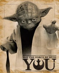 Star Wars, Yoda. Plakat May The Force Be With You.