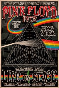 plakat promujący trasę New York 1972 zespołu Pink Floyd The Dark Side of the Moon