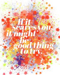 If it scares you - plakat