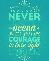 You can never cross the ocean - plakat