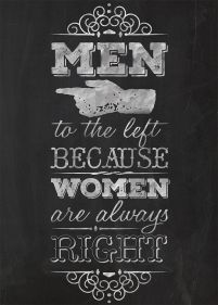 Women are always right - plakat