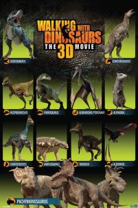 Plakat z filmu 3d Walking with Dinosaurs