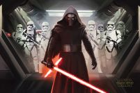 Star Wars The Force Awakens Kylo Ren i Stormtroopers - plakat
