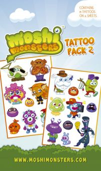 Moshi Monsters Characters - tatuaż