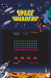 plakat z gry Space Invaders