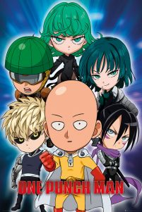 plakat postaci z filmu anime One Punch Man Chibi
