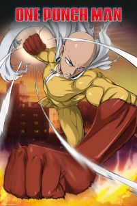 plakat anime One Punch Man Saitama