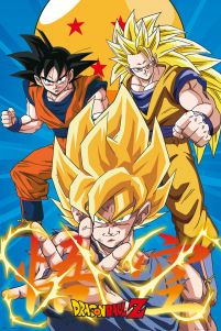 plakat z filmu anime Dragon Ball Z Songo Goku Super Saiyanin