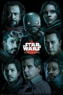 Star Wars Rogue One - plakat z bohaterami filmu