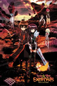 Twin Star Exorcists - plakat z bajki