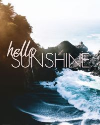 Hello sunshine - plakat